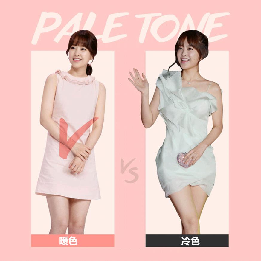 比起右邊的淺藍色,穿著暖色系的粉紅色小禮服的朴寶英更顯可愛的少女風!