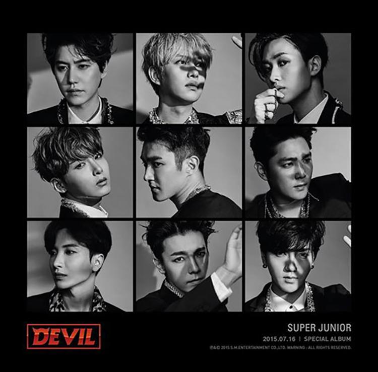 剛剛有提到的 SUPER JUNIOR ,他們今年發行的第一張 SPECIAL ALBUM《DEVIL》也是這樣的封面喔!