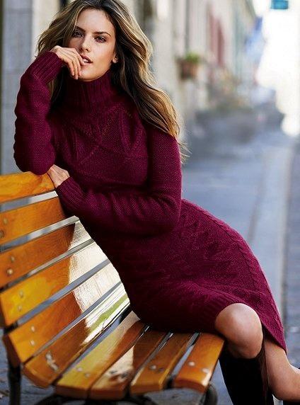 酒紅色的連身裙 沒有比這更能呈現嫵媚魅力的顏色♥