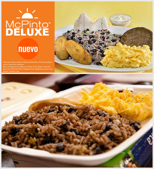 Mc pinto deluxe - 哥斯大黎加 使用哥斯大黎加主食pinto製成的漢堡