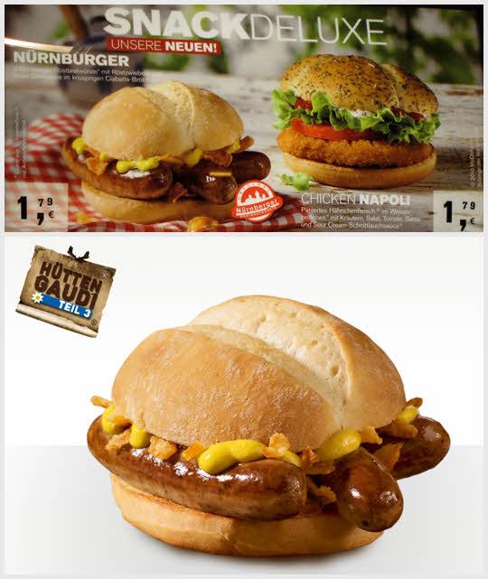 Mc nurnberger - 德國 三根大香腸+芥末醬+柔軟的白麵包  1.79歐(約65新台幣)