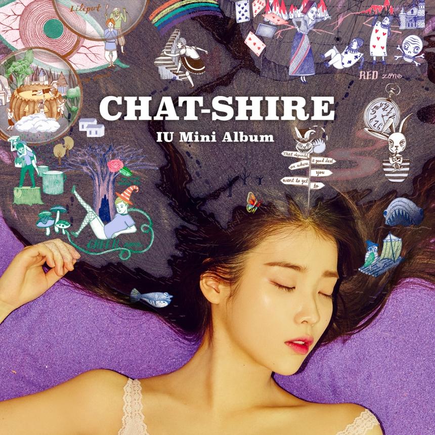 原來她是在慶祝IU發行第9張迷你專輯《CHAT-SHIRE》啦~不過本來是好意...卻被網友罵了一頓...