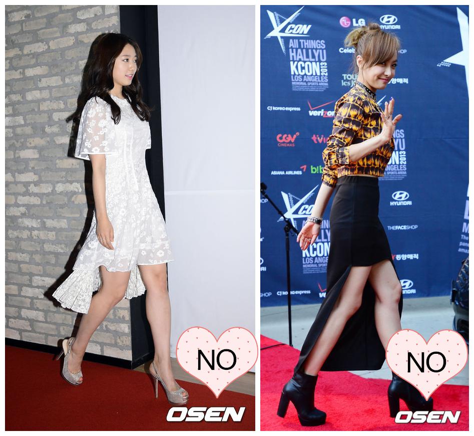 前短後長禮服PK 腿粗的女生真的不適合近幾年流行的前短後長款,尤其是從側面看,小粗腿暴露無遺。