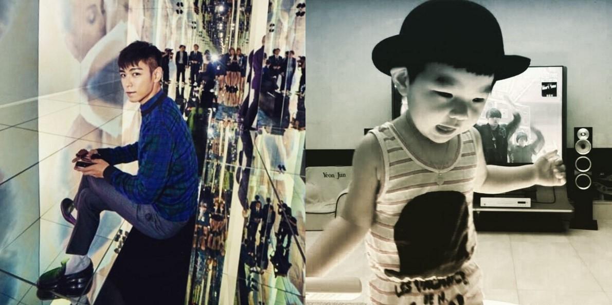 11.BIGBANG T.O.P 在此小編說明一下,因為部分明星家人的照片有版權問題,所以小編只能放棄某些兄弟姊妹檔啦ㅠ.ㅠ幸好T.O.P在instagram有姪子的照片,證明姐姐也是優良基因才能生出這麼可愛的姪子XD