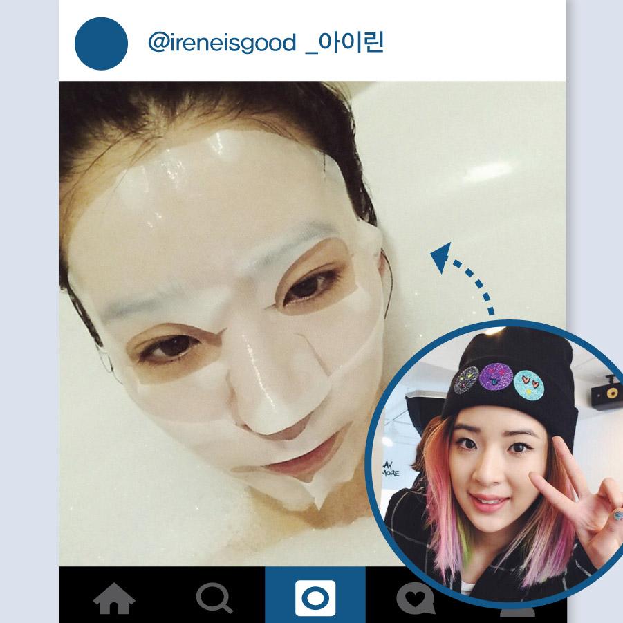 有著自己獨特的時尚、彩妝Style的模特兒Irene,在Instagram也擁有很多Follower. 邊做半身浴邊敷面膜,這就是她平時保養皮膚的密絕.