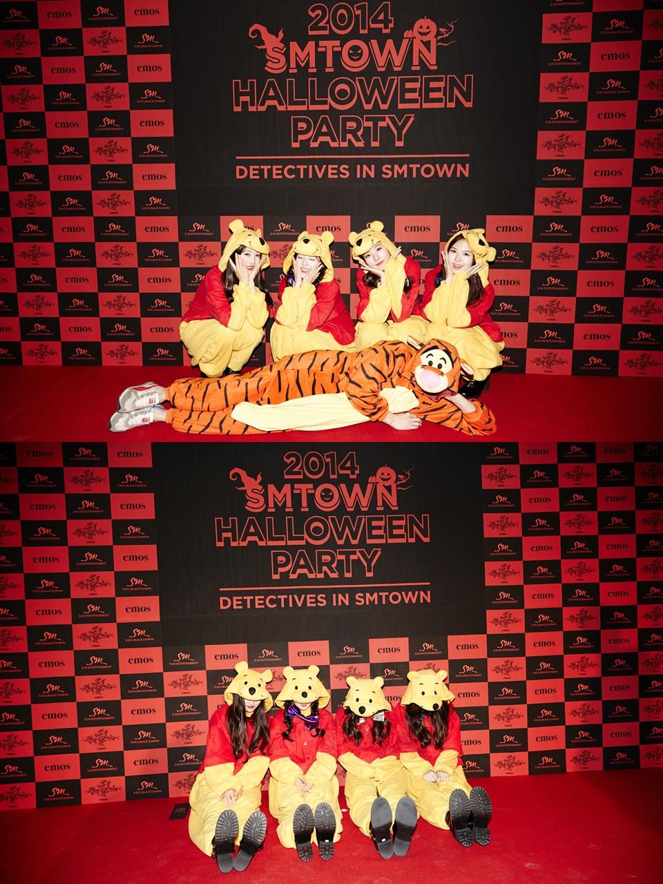 像是小師妹團 Red Velvet 就集體化身成小熊維尼。