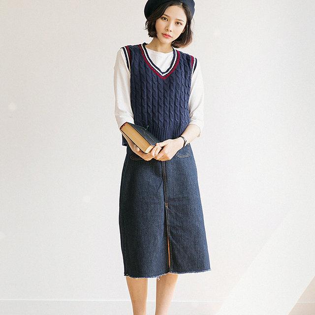 經典的麻花圖案~配上長款A型裙也很有氣質啊!