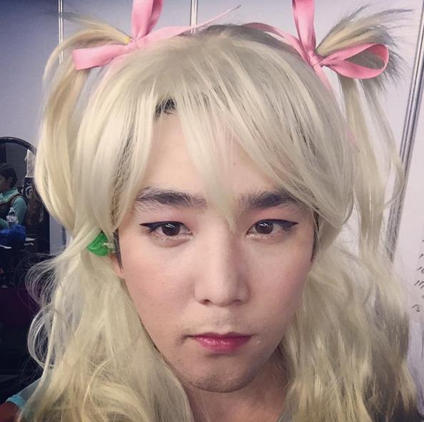 8.Super Junior強仁 金髮是頗性感的XD