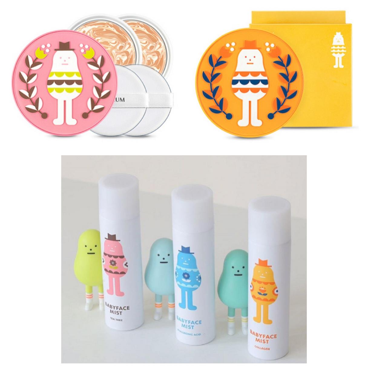 原本人氣商品Real Ampoule CC霜也有兩種新包裝喔♥ Baby Face Mist (茶樹、玻尿酸、膠原蛋白),噴了就能擁有童顏!!!(掃貨)