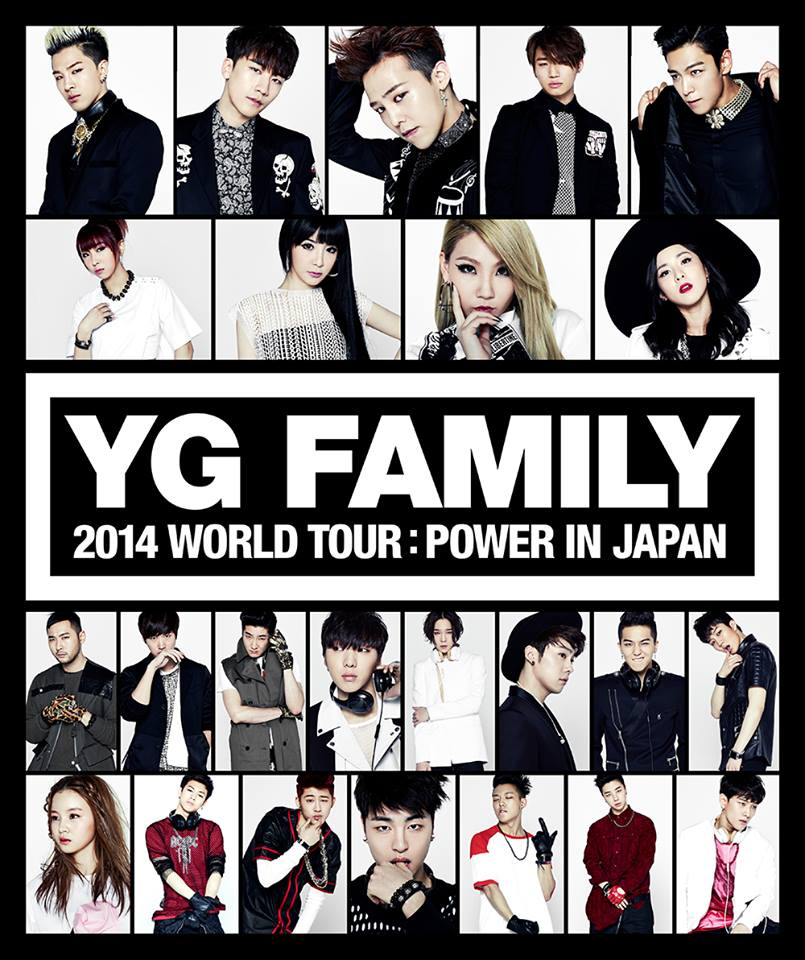 YG 娛樂 2014 年也在東蛋舉辦了 YG Family in JAPAN 的演唱會。