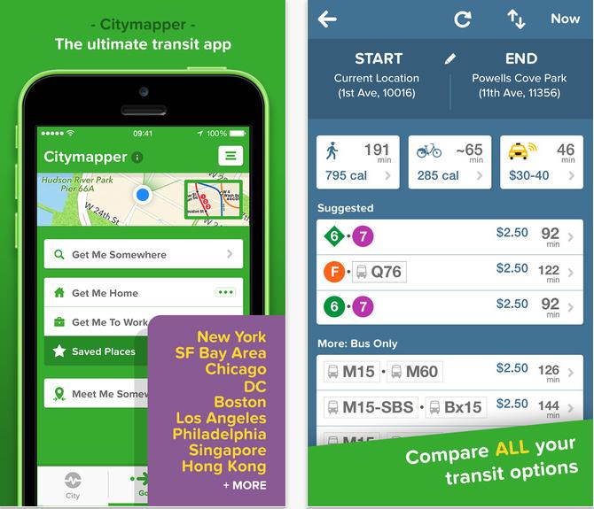 #1 Citymapper Citymapper是露可你看手機裡絕對不會刪除的App之一!它有各大城市清楚的地圖導航功能,幫你計算出最便宜、快速的路程走法,另外也能將地點存取後作為離線地圖,超方便的!
