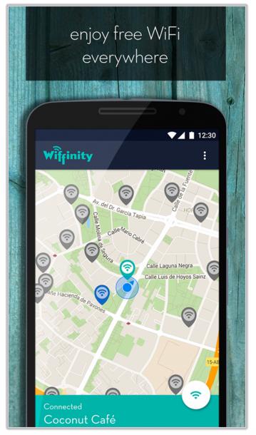 #6 WIFFINITY 出國在外最重要的事情就是網路了!WIFFINITY是個幫助搜尋免費Wifi的App,沒什麼特別需要解釋的,下載就對了~