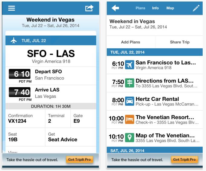 #7 TripIt 這是一款特別適合長期旅行者的App。它可以幫你整理好所有航班與住宿行程資訊,介面清楚而且很方便使用,受到許多旅行者的推薦~