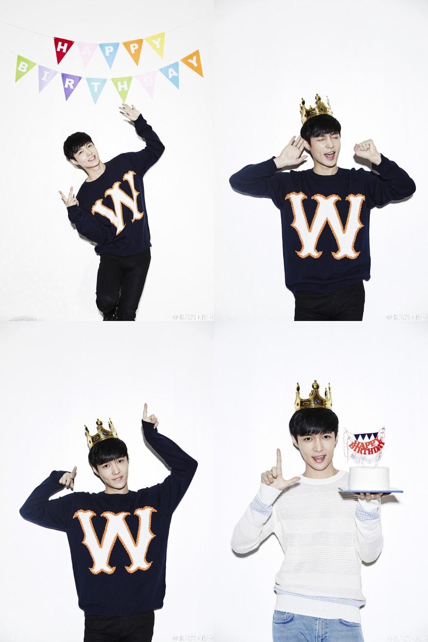 EXO 的 LAY 也是酒窩美男,吼~就算只有一邊也超可愛,真的好想戳戳看喔 >///< (← EXO-L 對不起。