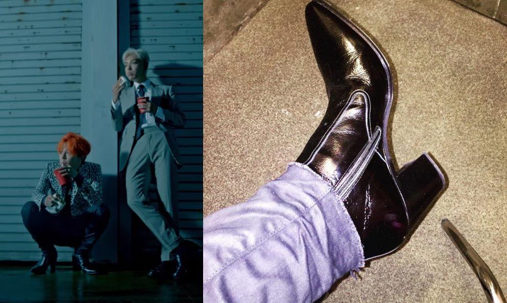 GD其實把高跟鞋融入了自己的時尚當中,Kai之前拍攝NYLON畫報時也穿上高跟鞋,完全無違和感