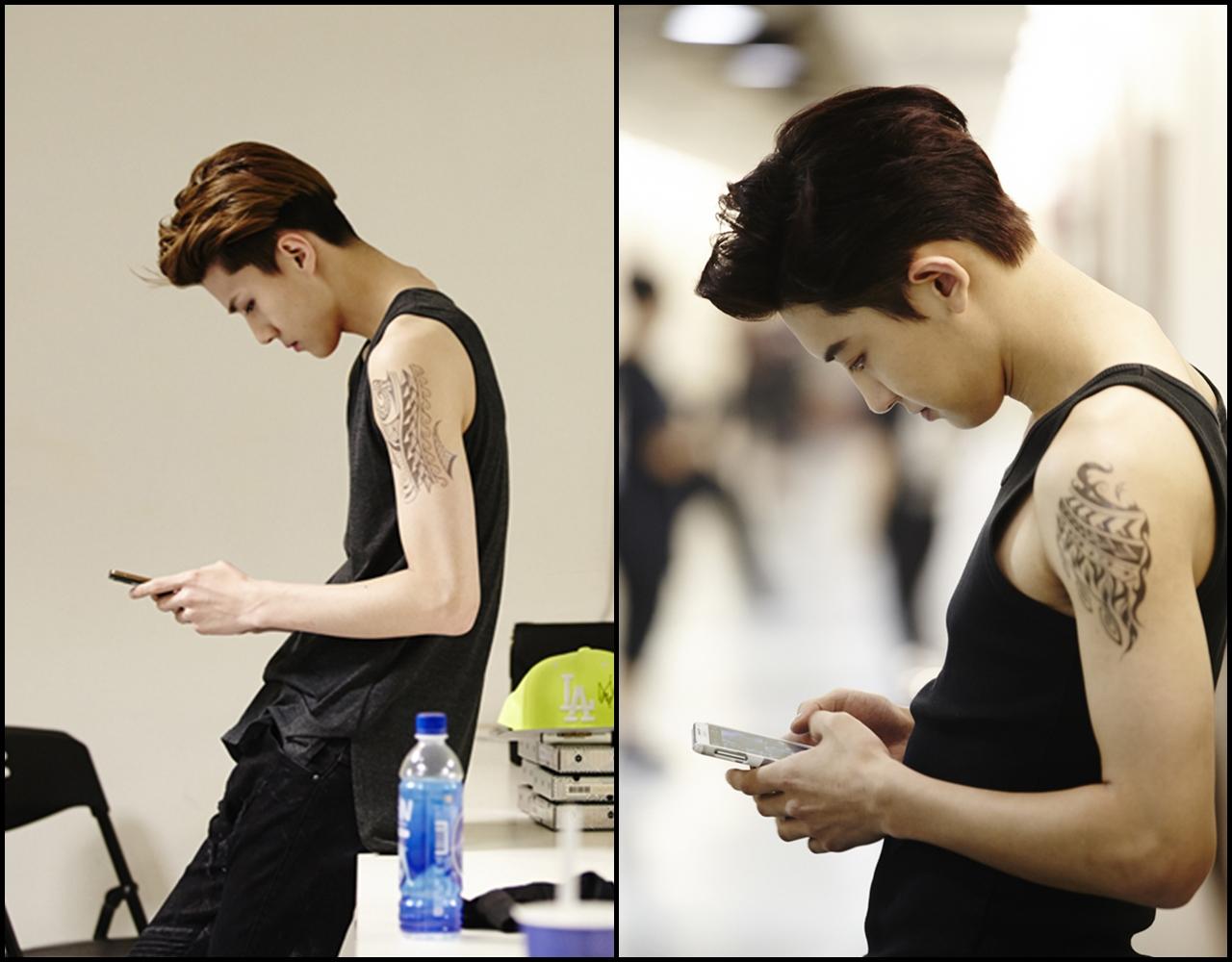 偷偷加入一個小小測驗,大家知道左邊和右邊分別是 EXO 的哪個成員嗎?