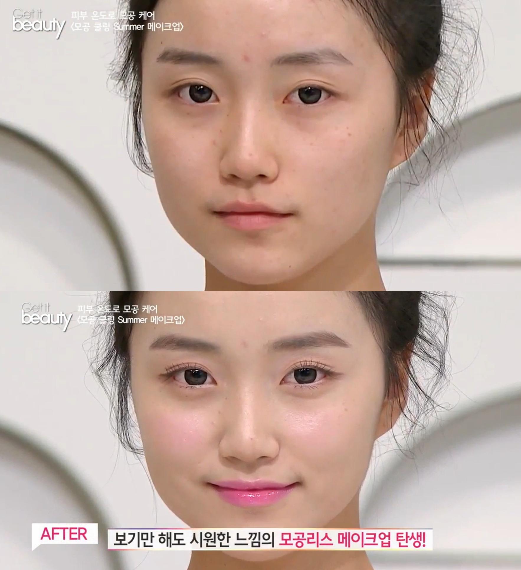 除了保養法,《Get it beauty》也邀請到少女時代、Red Velvet御用的彩妝師教大家如何畫出隱形毛孔的呼吸妝。