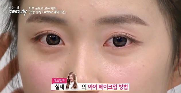 完成眼妝之後,看起來真的有點像Irene的眼睛XD