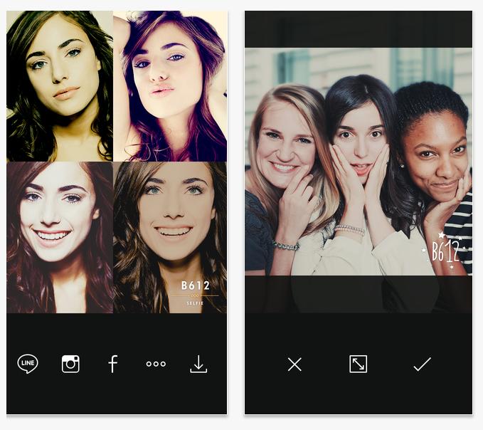 ★ 第一款 :: B612 ★  應該沒有人不知到這個 app 吧? 有很多特效的 B612 真的是自拍好朋友 ♡
