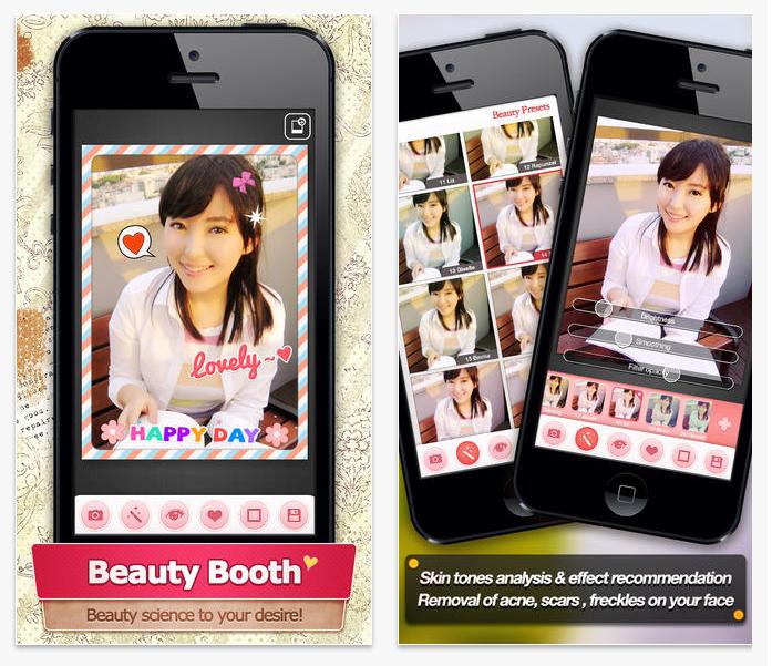 ★ 第二款 :: Beauty Booth ★  這款是 EXO 燦烈在自己的 Instagram 上說過的 app,還記得當初他一說完後,我也馬上下載了XD