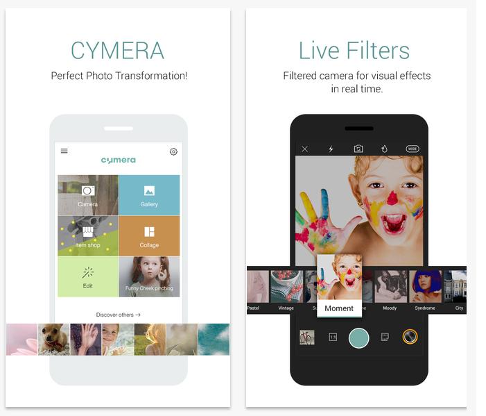 ★ 第四款 :: Cymera ★  Cymera 不僅是韓星愛用的 app,我的韓國朋友手機內也一定都會有這款,好啦!我承認我自己也很愛用這個。