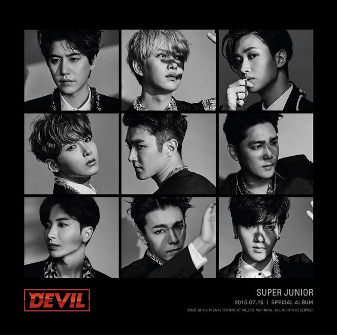 2015.07.16 Super Junior《Devil》  今年已經邁入出道十周年的 Super Junior,也發行了 SPECIAL 專輯《Devil》,隨著成員紛紛入伍和退伍,每次出專輯的成員都有些不一樣,但他們的人氣依舊啊!