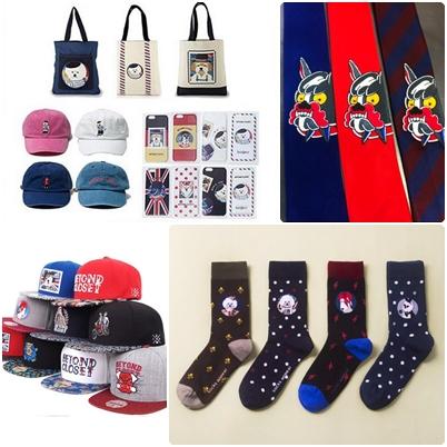 除了衣服配件也是熱賣商品喔♥包包、襪子、領帶、帽子到手機殼等等 有這麼可愛的小物裝飾造型,一定超搶眼的!