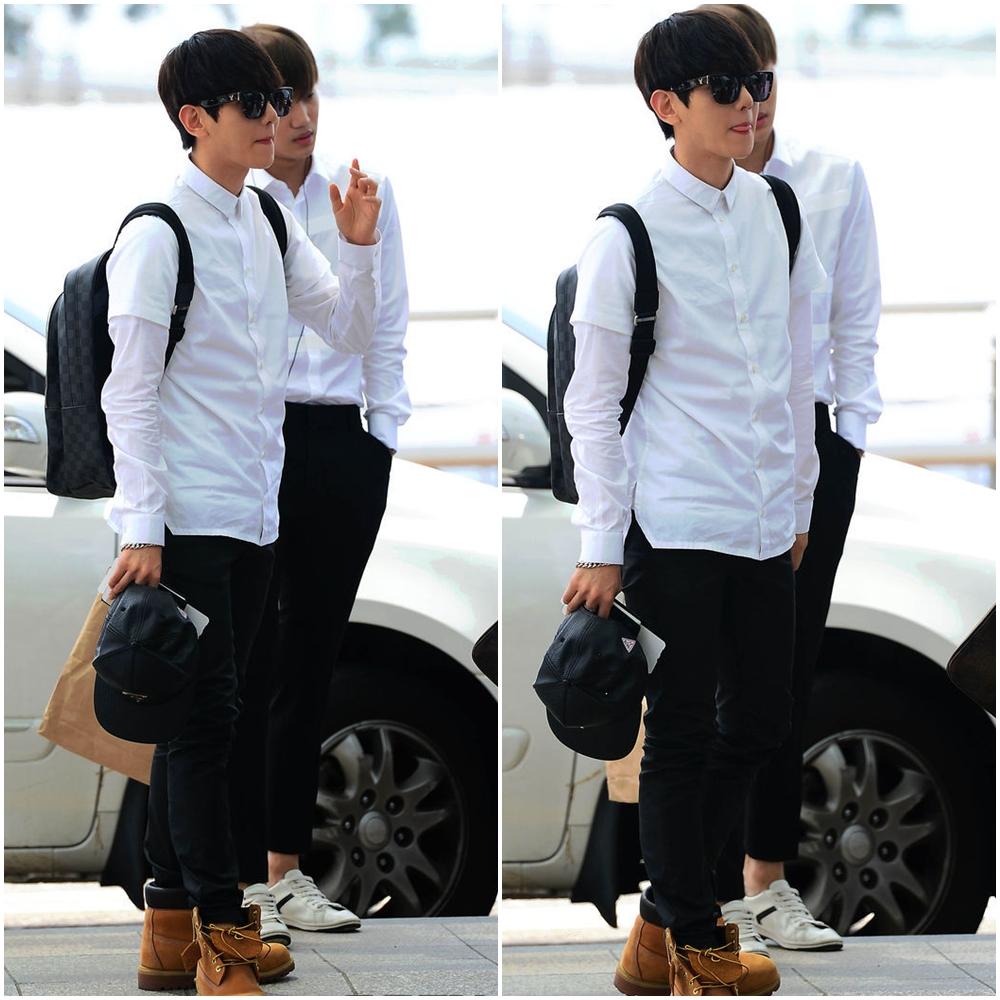 ★ 白色襯衫 :: 男友力 MAX ★  有人跟 Light 一樣超喜歡看男生穿襯衫的嗎?(舉手) 大家不覺得上面那幾套穿法都比較像小男孩,但一穿上襯衫馬上就多了點成熟的帥氣感♡