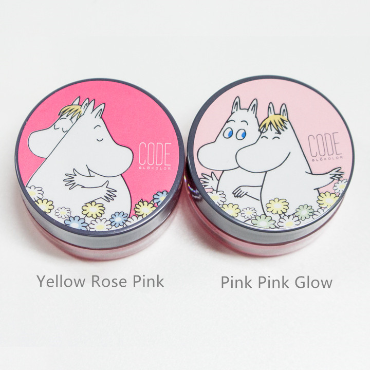 ▶ Code Glokolor M.Tint Lipbalm MOOMIN系列Yellow Rose Pink, Pink Pink Glow     (價錢 : 各KRW7,000)