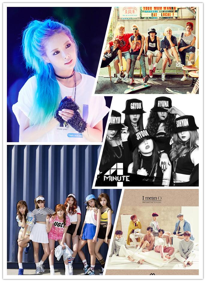 Cube娛樂也是,包含主力團4Minute、BEAST與泫雅的個人回歸,還有子公司Acube的Apink、新生代團BTOB、CLC等~產量也是很驚人啊~
