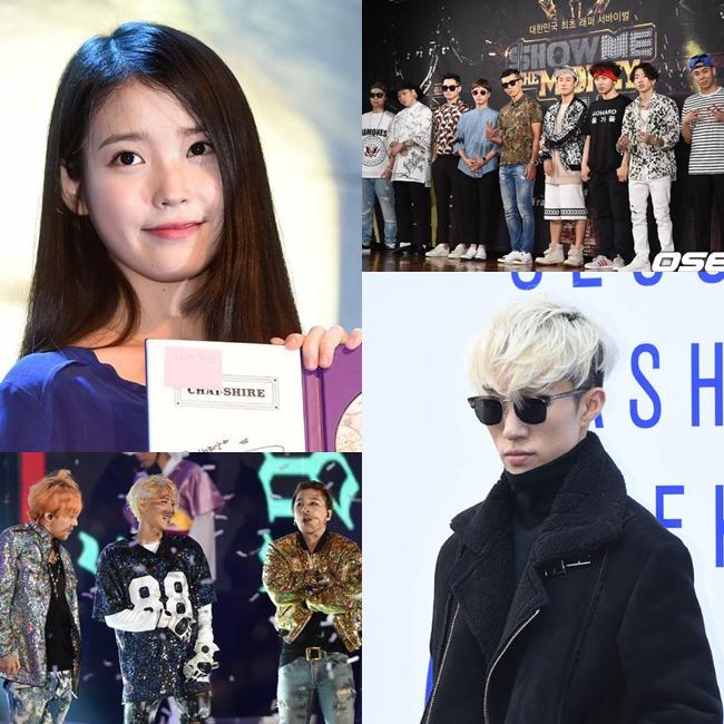 此外,solo歌手例如IU、Zion.T等的大放異彩,以及電視節目如《無限挑戰歌謠祭》、《Show Me The Money4》等音源逆襲排行榜!!