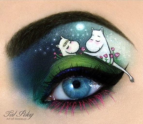 那就讓我們來看看跟藝術品沒兩樣的眼妝藝術吧?