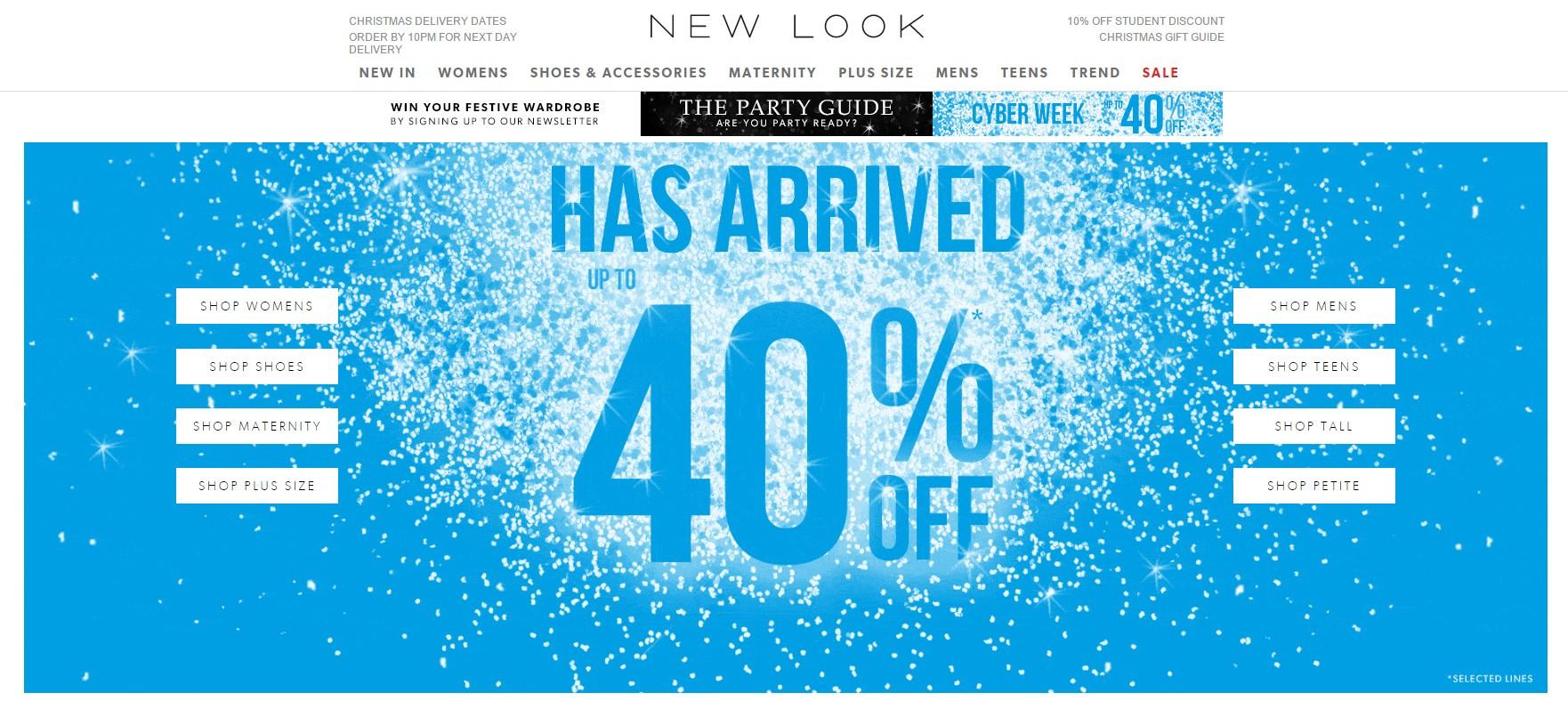 #7 New Look 英國非常平價的時尚品牌,目前提早進入聖誕打折季囉!
