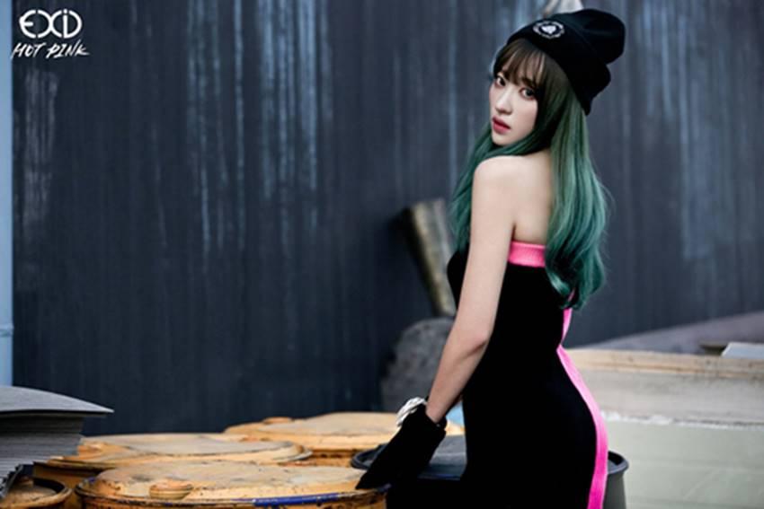 之前EXID回歸,哈妮的綠髮引起很多人注意!