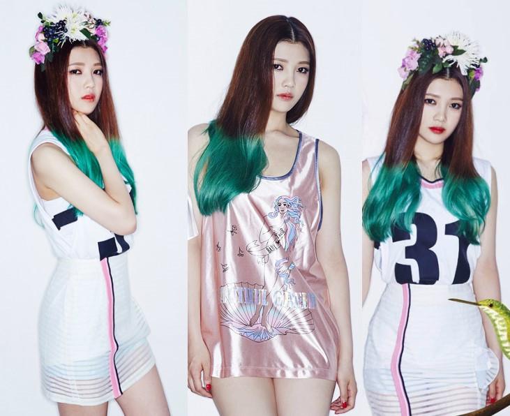 Red Velvet JOY剛出道時,髮尾染了綠色