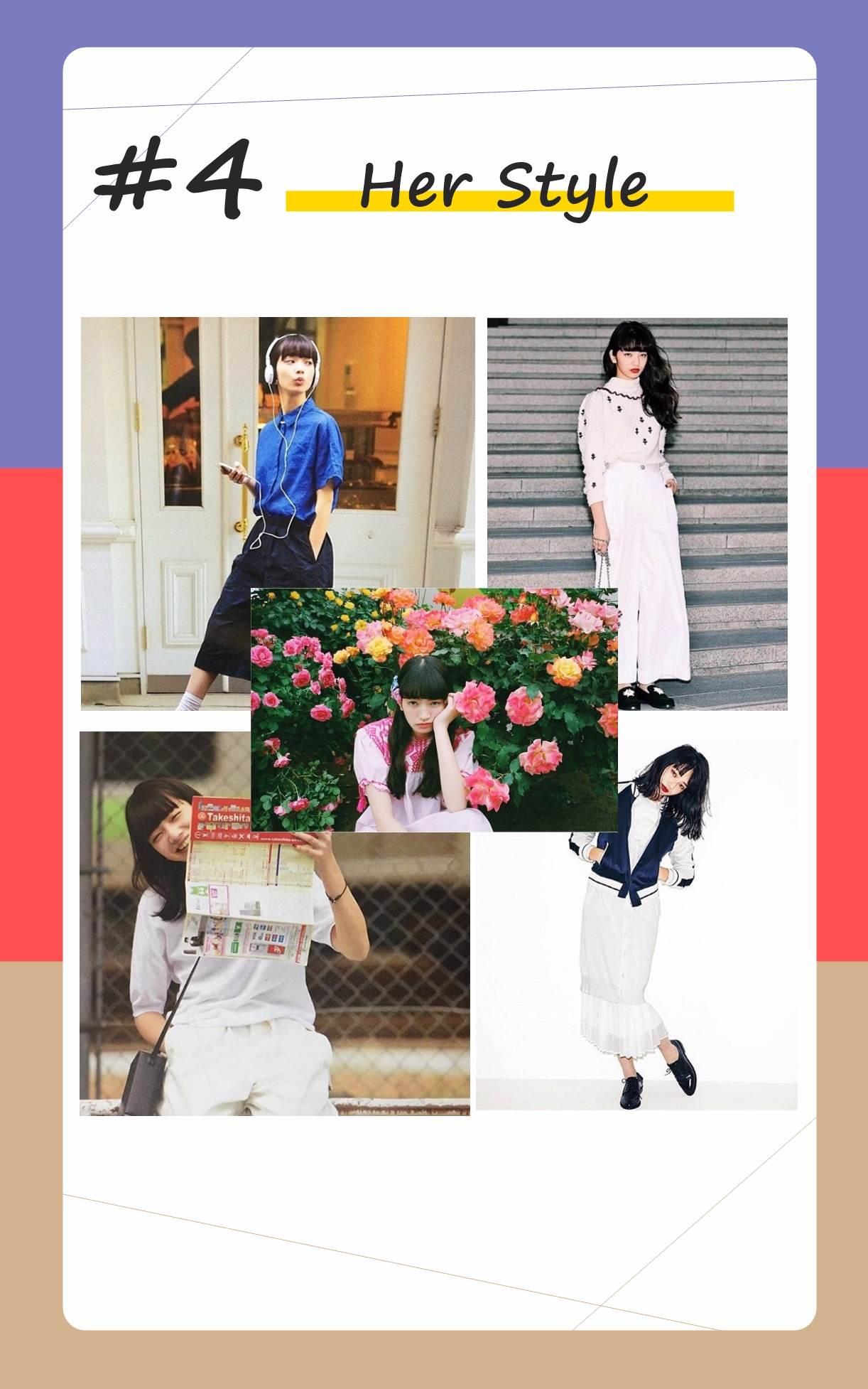 不特別追求可愛、甜美的穿搭,小松菜奈擁有168的高挑身材,偏愛「酷」、「直爽」的造型,也深獲CHANEL等品牌的喜愛