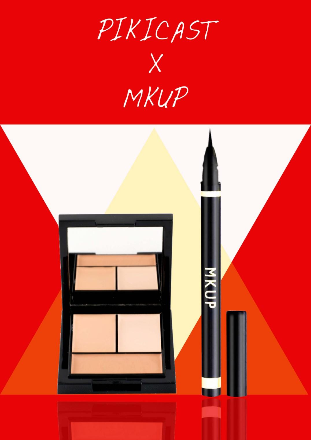 沒錯!最近在網購美妝界成為話題的美妝品牌MKUP與Pikicast合作推出【Pikicast X MKUP 美妝盒】,內附「MKUP三色精華遮瑕膏」+「MKUP激細深黑眼線筆」,贈送給Piki的粉絲們 ❤