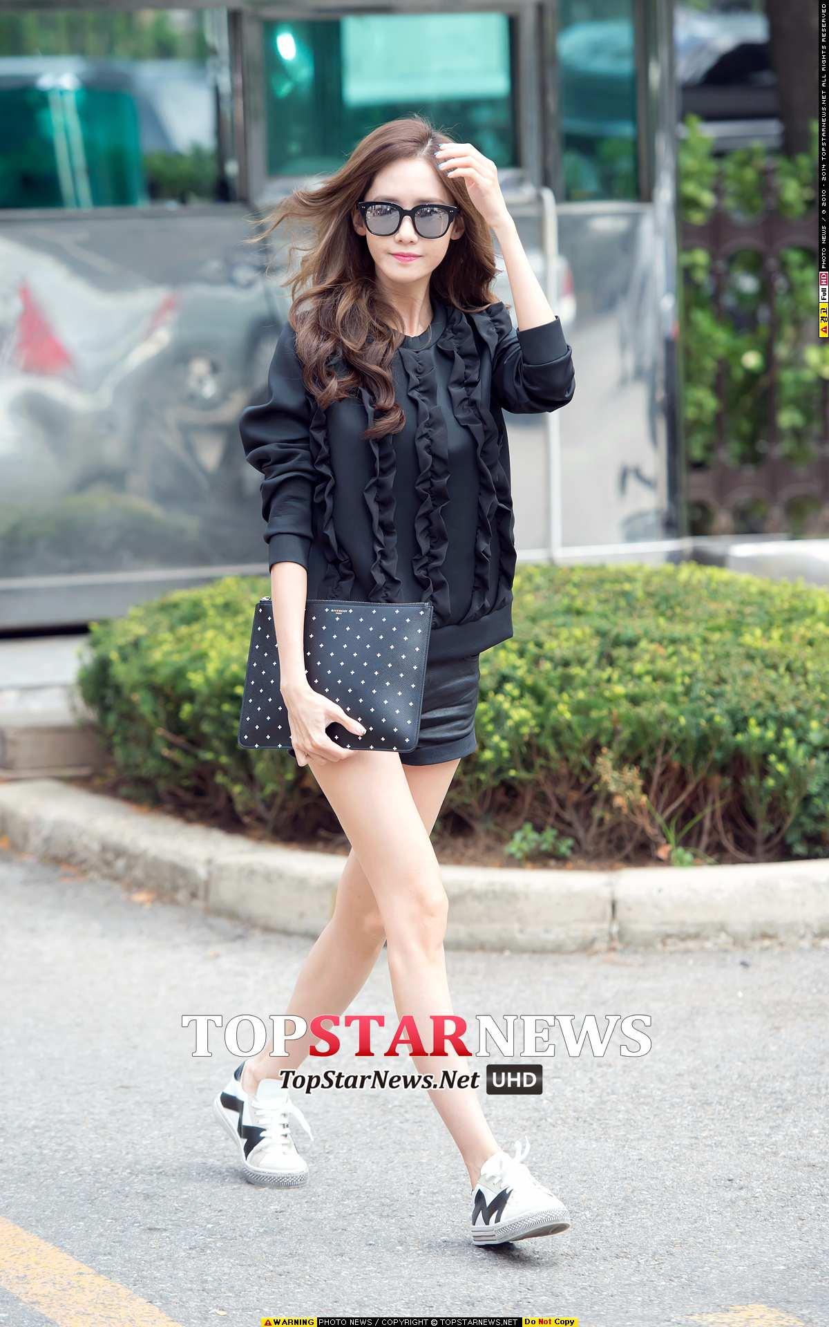 少女時代 -潤娥 即使沒有高跟鞋,穿上短褲也覺得變得更高挑了點