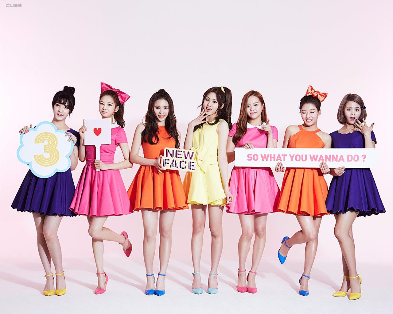 ④全成員素顏 女生們最害怕的素顏公開,不過相信CLC成員們都保養得很不錯(笑)