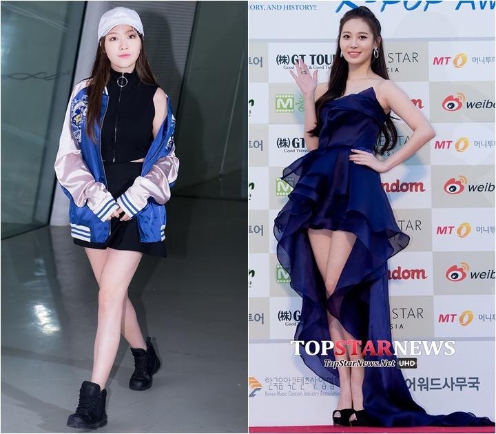 Girl's Day Yura170cm、珉雅165cm 差5cm (Yura的大長腿...羨慕死小編拉~)