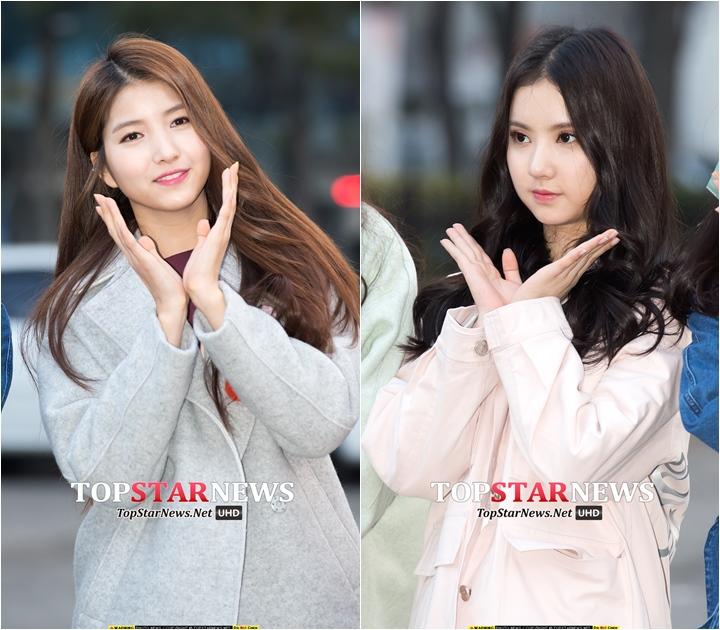 GFRIEND    Sowon 172cm  、Eunha 163cm  差9cm