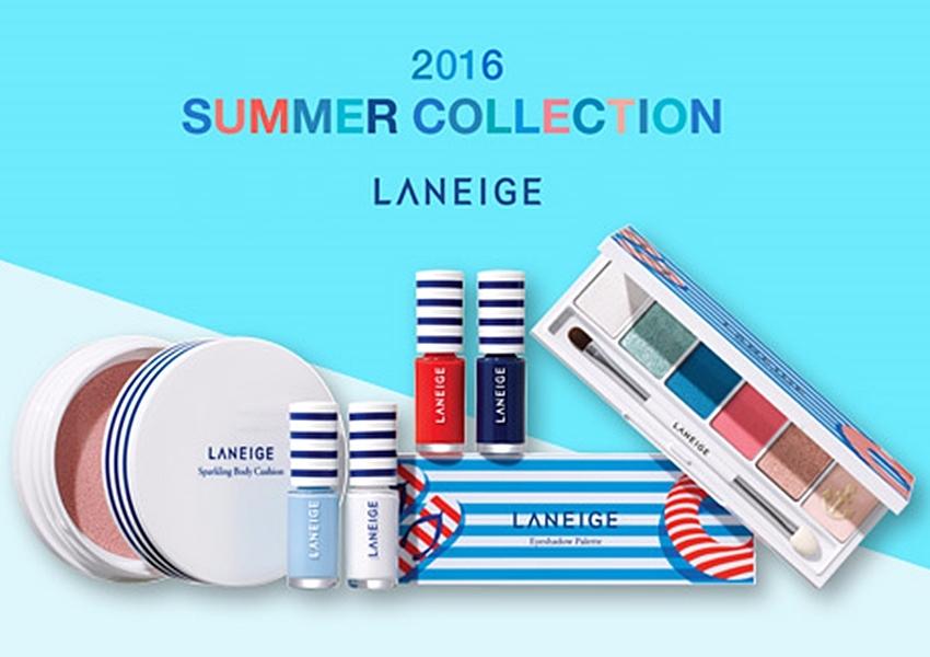 從身體用的氣泡氣墊粉,到指彩和眼影盤都有,整體包裝充滿藍白條紋,以夏日海洋、水手風為主題☼☼☼