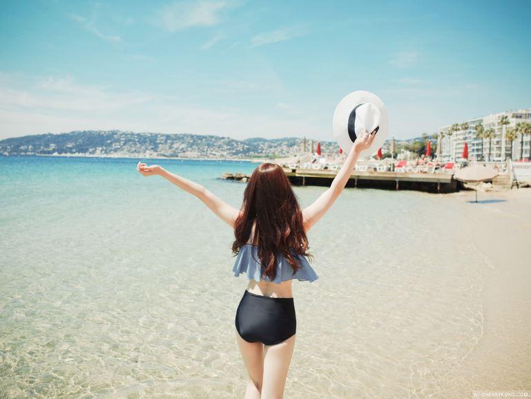 如果不想露臉、想當背殺,就望向大海吧~只要景色夠漂亮,保證這張照片就是成功的啦!