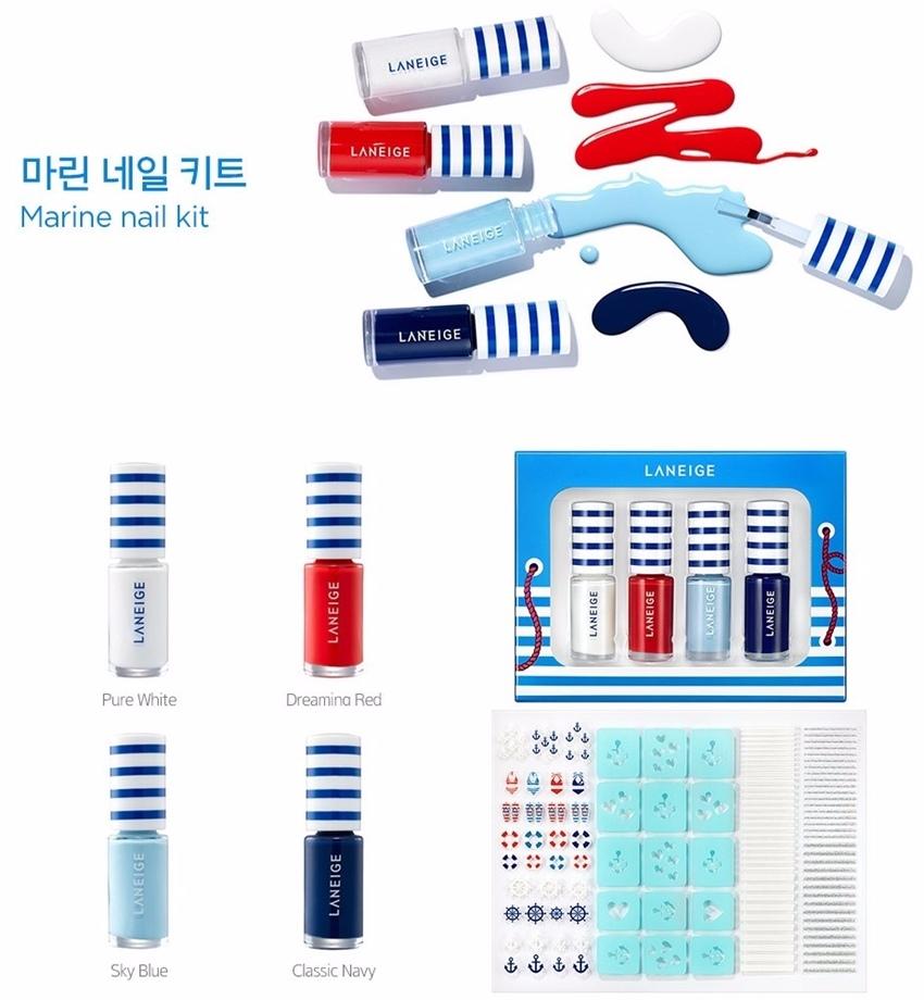 而新系列的指彩,一樣是走海軍風! 外包裝是活潑的藍白條紋水手風,共有四色,白、紅、粉藍、寶藍