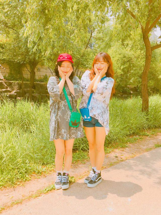 普美和南珠這組合真的太可愛了~~連身為女生的小編都無法不愛她們♡希望Apink快點回歸啊~~~