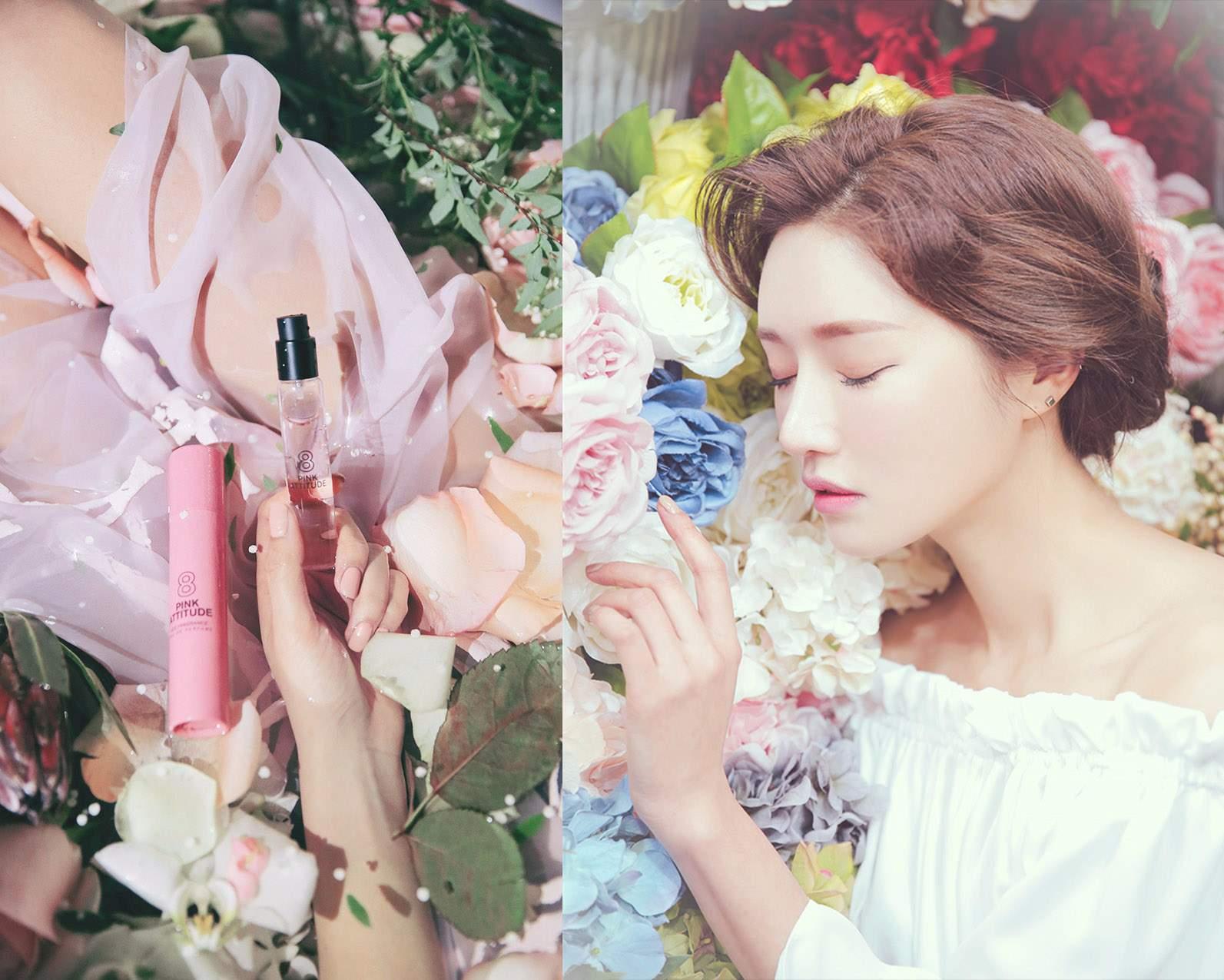 #8 這款香水在羞澀的紫羅蘭和浪漫的牡丹香氣中加入些許黑莓,甜美純潔的少女氣息讓人怦然心動。猶如美麗的少女站在花瓣散落的庭院,粉紅色的幽香隨著她的腳步飄散開來。