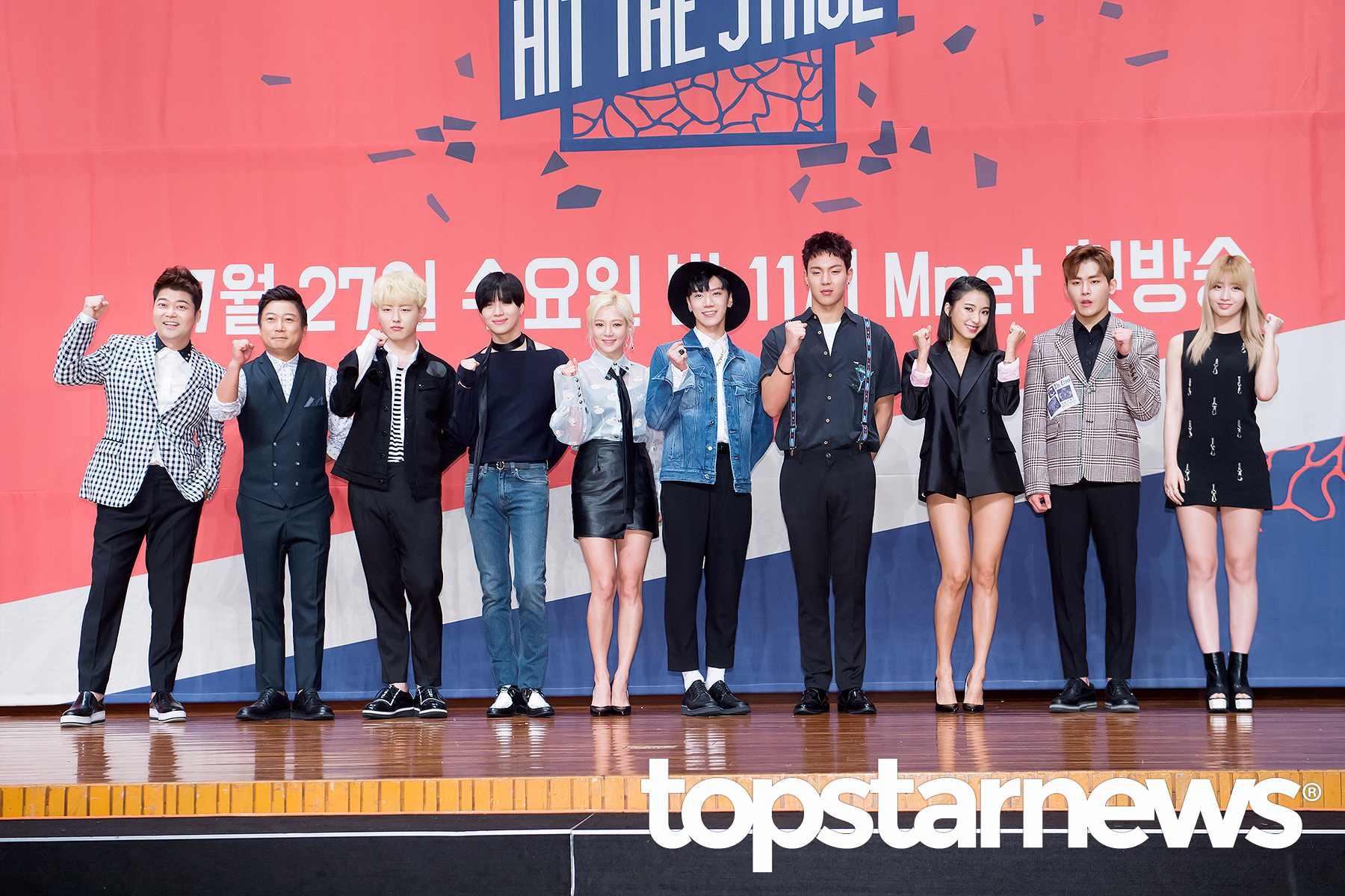 22日下午《Hit The Stage》在首爾開了製作發表會,現場星光熠熠~(寶拉的褲子也太短了)