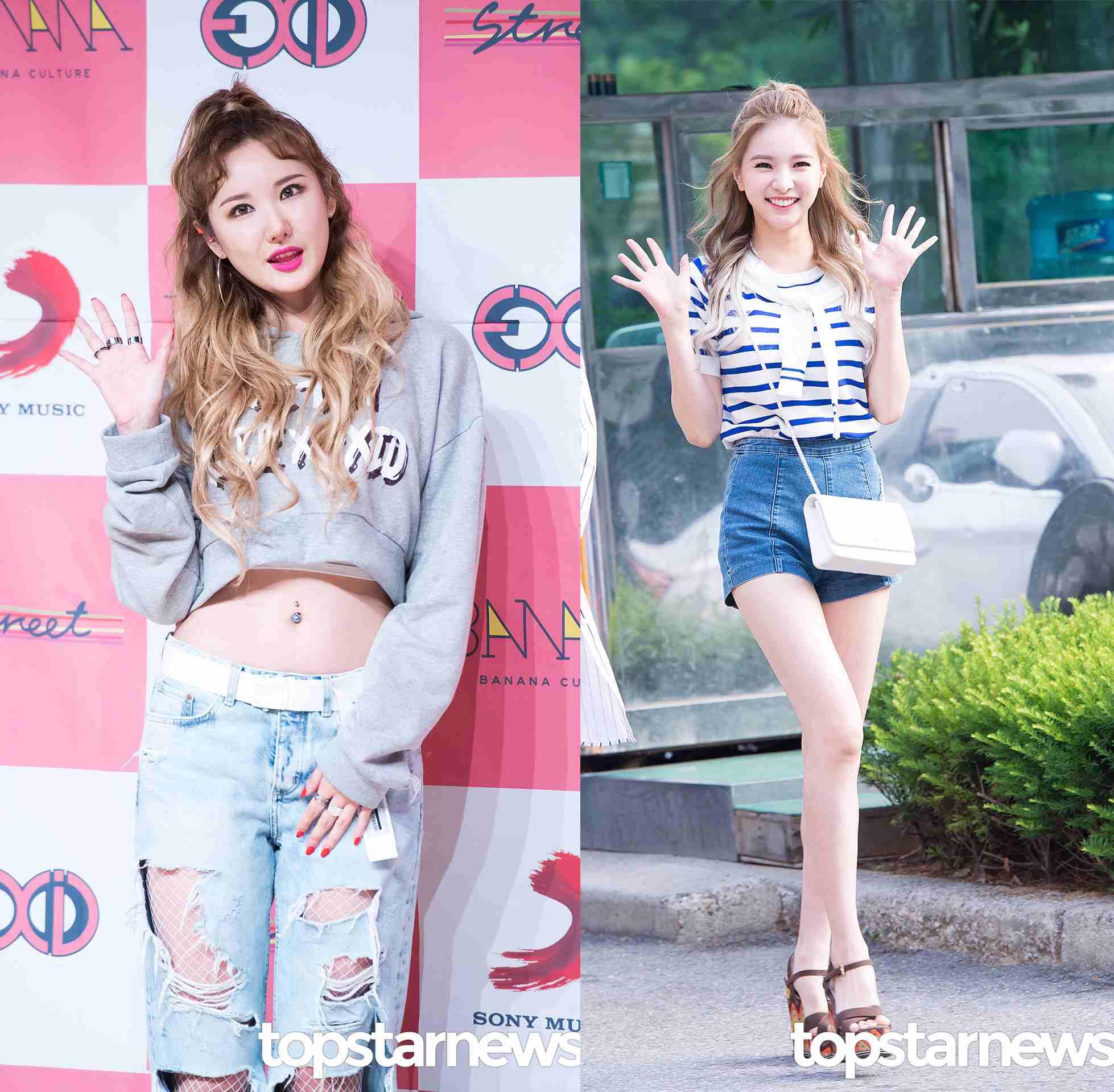 週天:公主頭 今年夏天韓妞還特別流行半綁的公主頭,可以像LE一樣帥氣女王感,也可以像Jei一樣很少女。