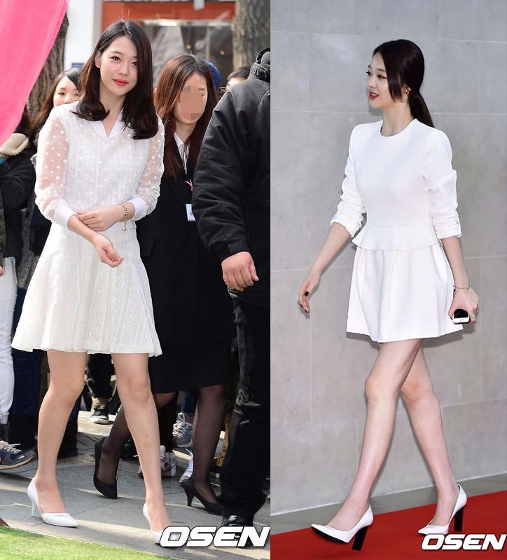 ◆白色小洋裝 白色作為夏天的主打顏色,女孩們打開衣櫃,一定很多白色單品吧?而白色的小洋裝則是甜美女孩的必備單品。