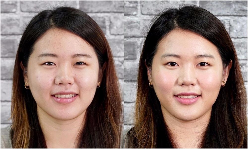 自然的打亮棒不會讓你看起來太像「白鼻心」,修容也不容易看起來太假! 你看看~小編試過之後臉立刻小一號耶XDD